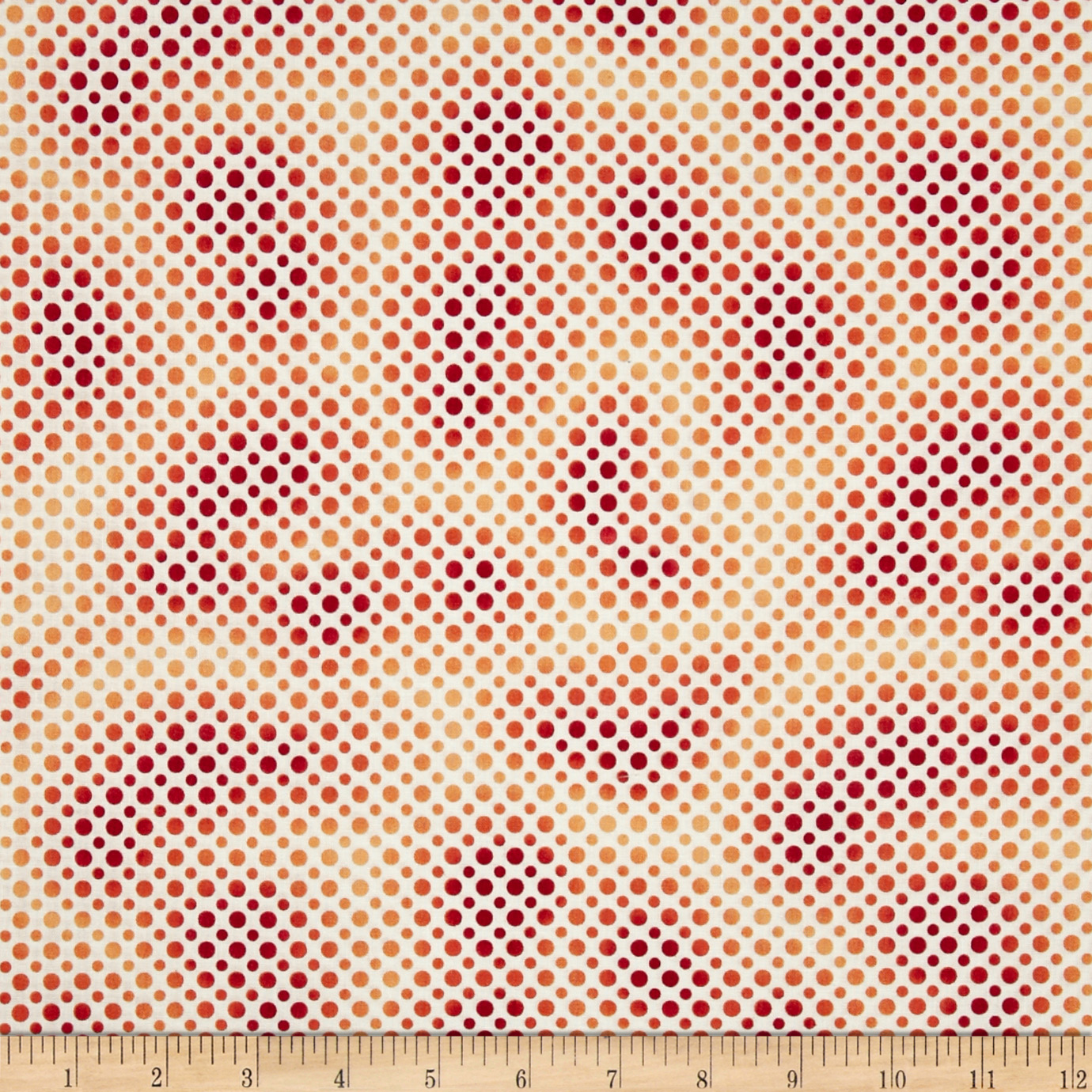 Ombre Dot Red/Orange Fabric