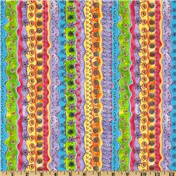 Garden Whimsy Stripes Hot Pink/Multi
