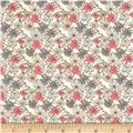 Liberty of London Dufour Jersey Knit Sea Petals Cream/Coral