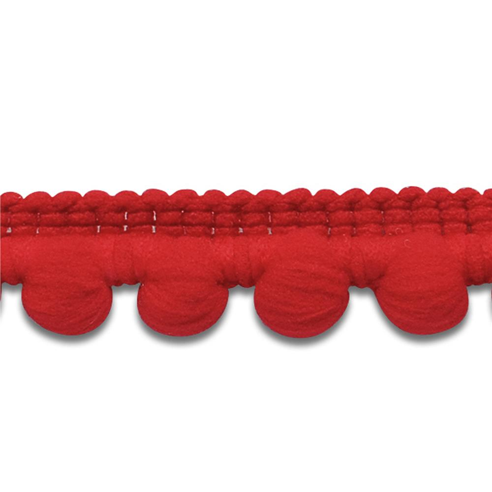 "3/8"" Baby Pom Fringe Trim Red"
