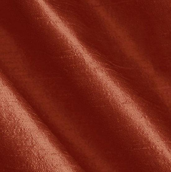 Dupioni Silk Fabric Terracotta