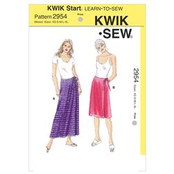 Kwik Sew Misses' Wrap Skirts Pattern