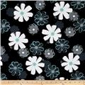 Mod About You Large Floral Black/Teal