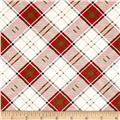 Moose Lodge Plaid Beige/Red