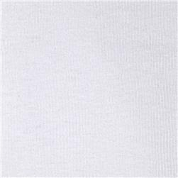 Basic Cotton Rib Knit White