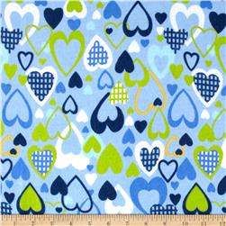 Flannel Prints All My Love Blue
