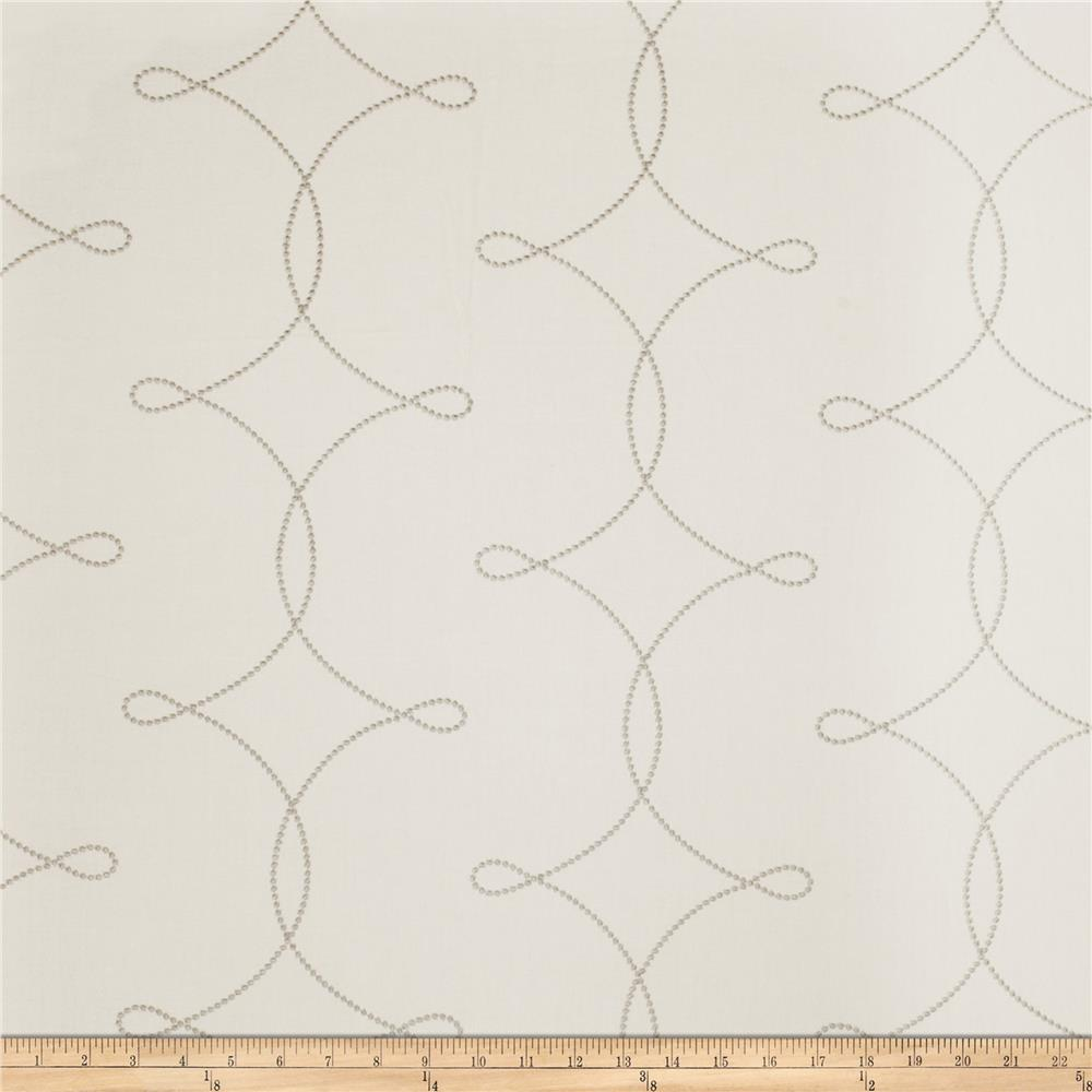 Fabricut Sheryl Embroidered Grey
