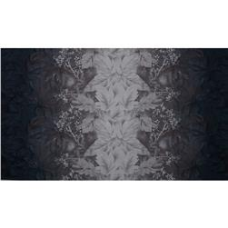 Daiwabo Double Border Floral Black Fabric