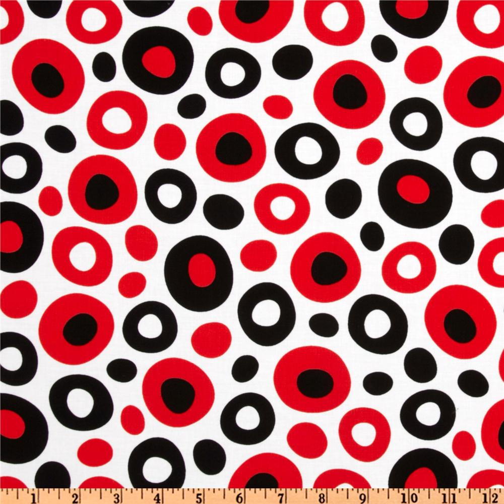 Celebrate Seuss Dot White/Black/Red