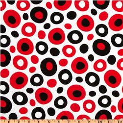 Celebrate Seuss Dot White/ Black/Red Fabric