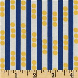 Betty Dear Stripe N Dots Screaming Yellow Fabric