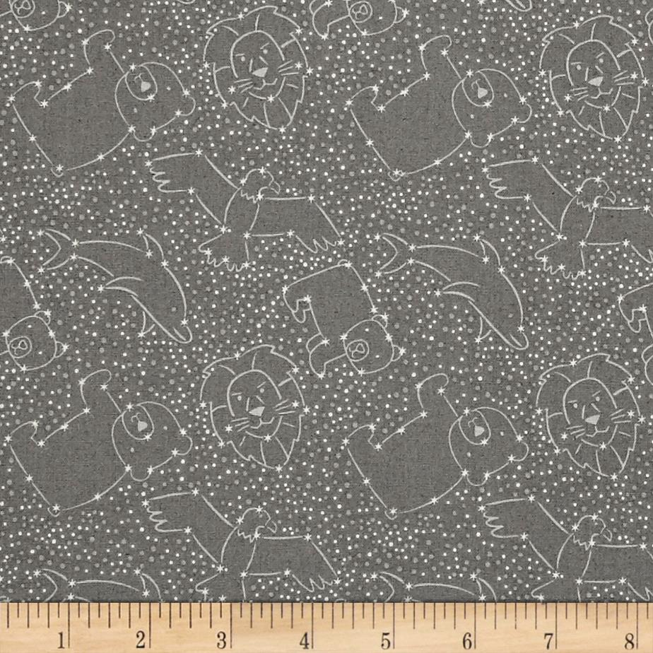 To the moon back constellations dark grey discount for Planet print fabric
