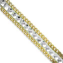 "1/2"" Rhinestone & Glass Chain Banding Crystal"