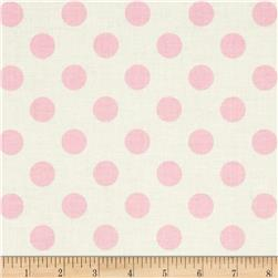 Riley Blake Le Creme Basics Medium Dots Cream/Baby Pink