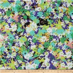 ITY Jersey Knit Floral Purple/Green