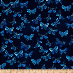 Cloud 9 Organic Moody Blues Butterflies Navy