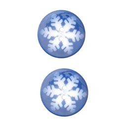 Novelty Winter Wonder Button 1 1/8'' Snowflake