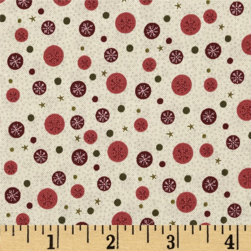 Winter Village Snowflake Dots Cream