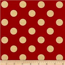 Michael Miller Holiday Glitz Quarter Dot Cherry