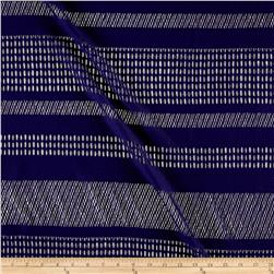 Stretch Mesh Lace Stripe Eggplant