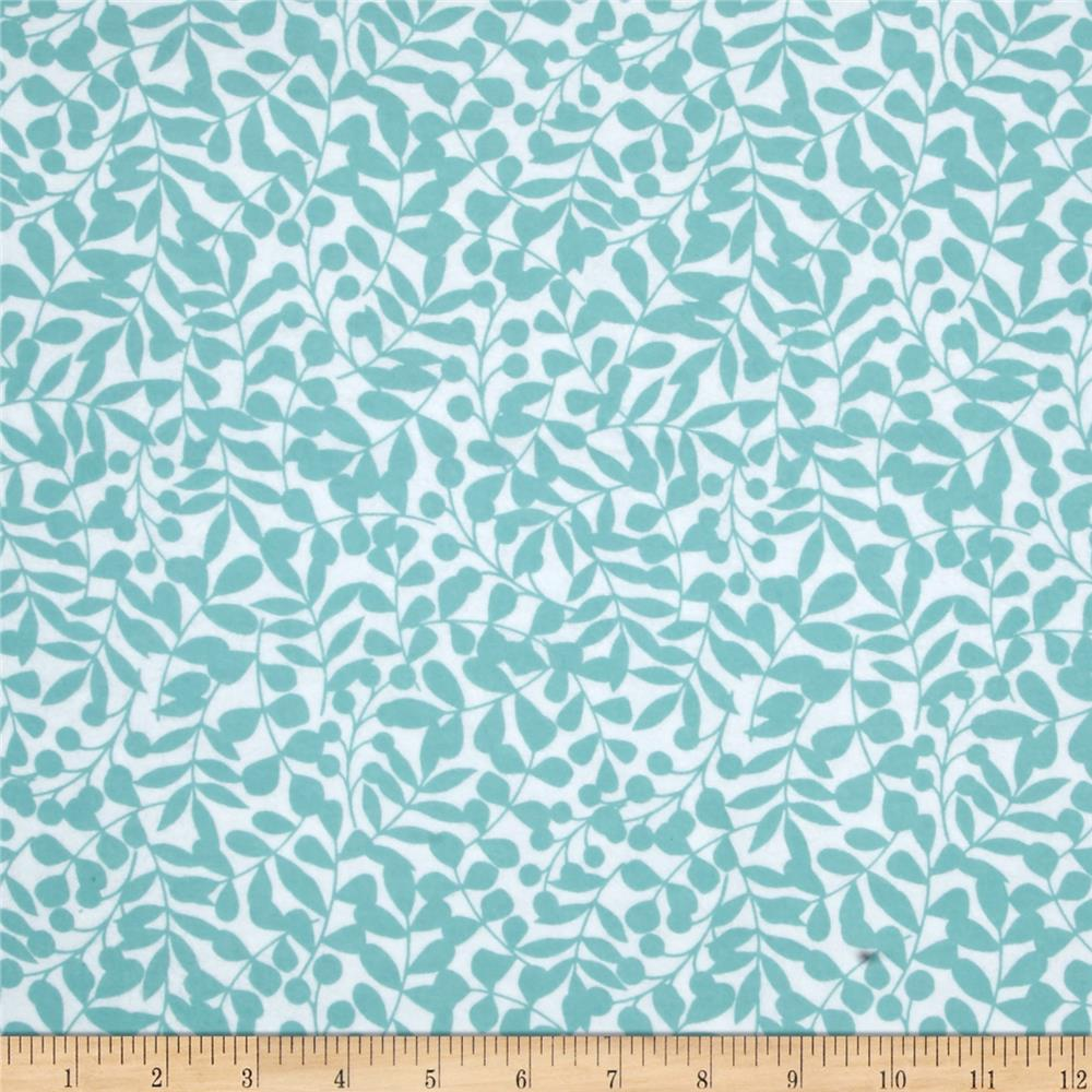 Cloud 9 Organic First Light Flannel Branch Turquoise