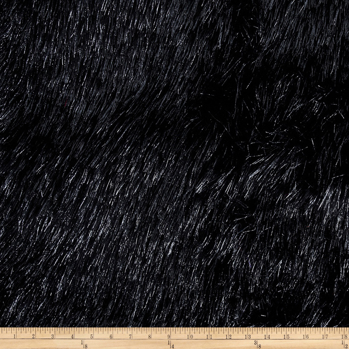 Faux Fur Electric Shag Black/Grey