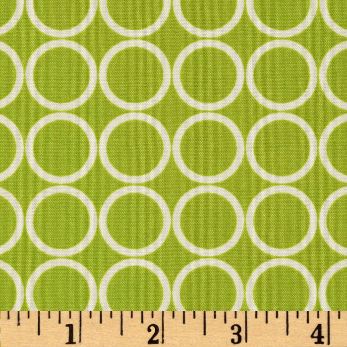 Metro Living Circles Chartreuse Fabric