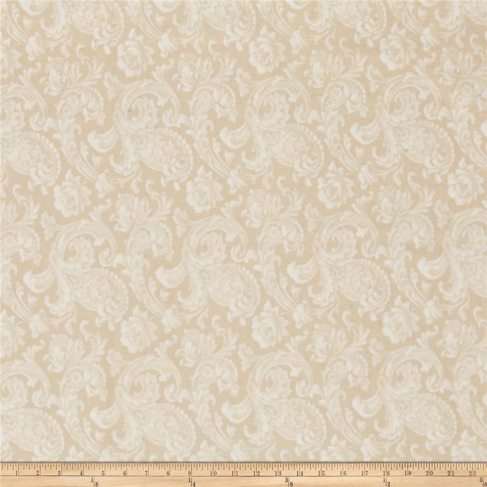 "108"" Wide Back Floral Cream"