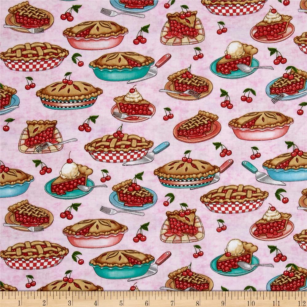 Qt Fabrics Home Sweet Home Cherry Pies Pink Discount