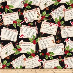 Robert Kaufman Holly Jolly Christmas Recipe Cards Black