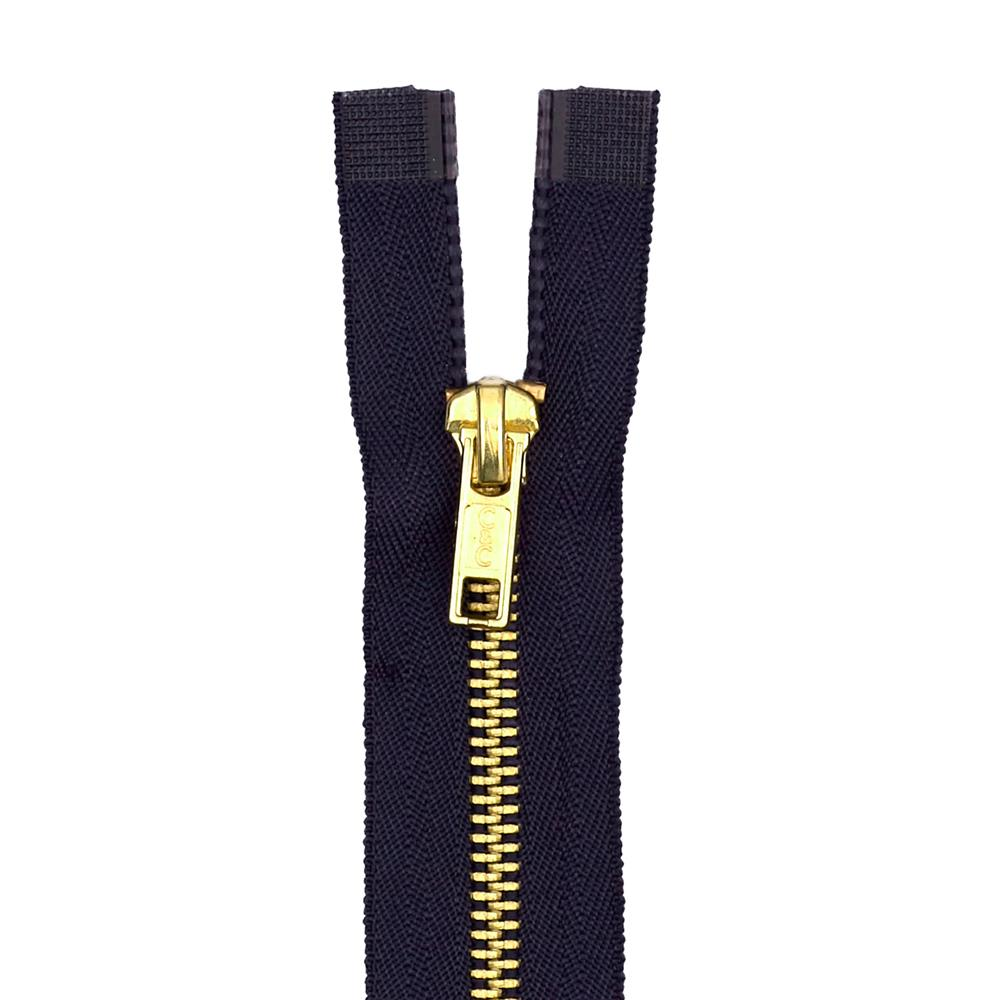 Coats & Clark Heavy Weight Brass Separating Zipper 18'' Navy