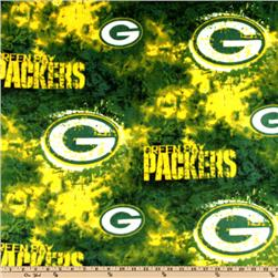 NFL Fleece Green Bay Packers Green/Yellow Fabric