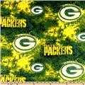 NFL Fleece Green Bay Packers Tie-Dye Green/Yellow