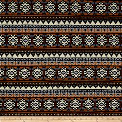 Hacci Sweater Knit Aztec Brown/Blue