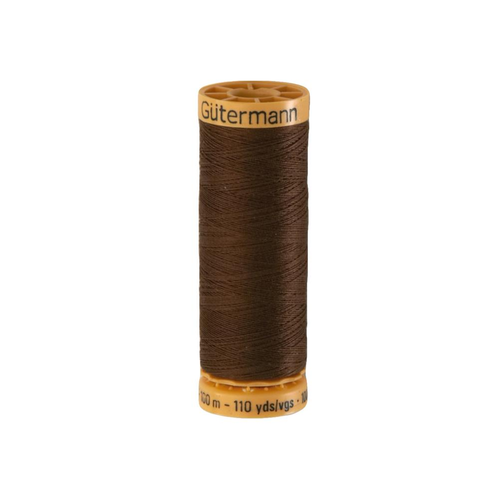 Gutermann Natural Cotton Thread 100m/109yds Brown