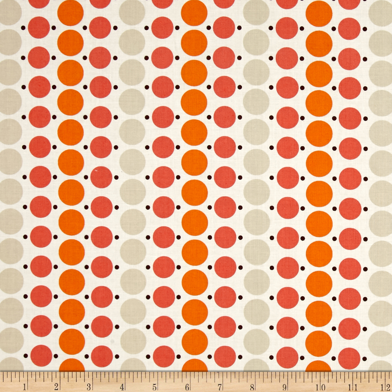 Image of Denyse Schmidt Katie Jump Rope Big Dot Geranium Fabric