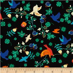 Seven Islands Birds & Butterflies Black