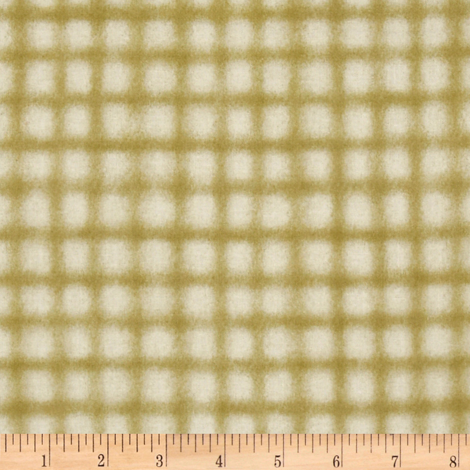 Weeds n Tweeds Checkered Green Fabric