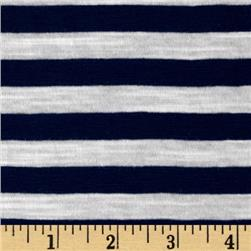 Jersey Knit Stripe Navy/White