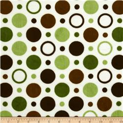 Minky Circles & Dots Green/Brown