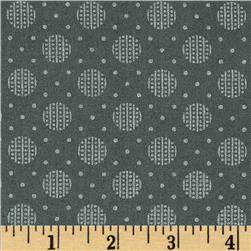 Pearle Silver Opalescent Big Dot Pewter Fabric
