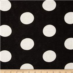 Rayon Jersey Knit Dots Black/Cream