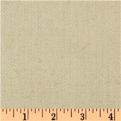 Raw Silk Suiting Herringbone Beige