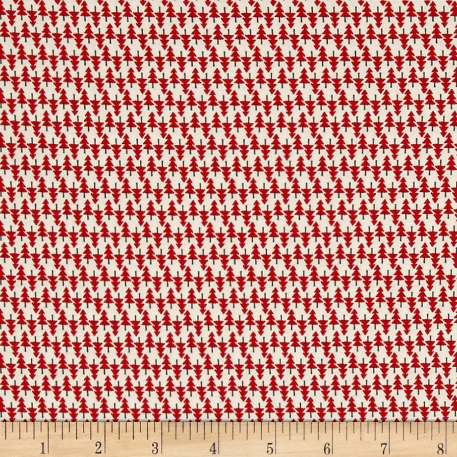 Moda Hometown Christmas Edition Spruce Red