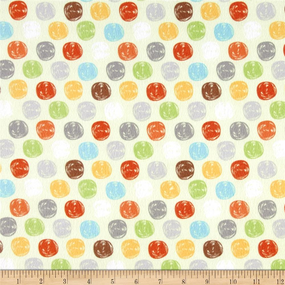 Sweet Meadow Flannel Dots Green