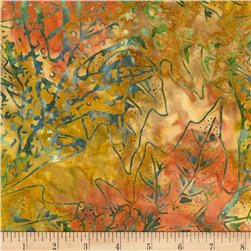 "Timeless Treasures Tonga 106"" Extra Wide Batik Autumn Leaves Jungle"