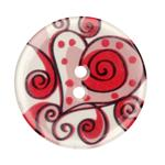 Novelty Button 1-3/8'' Heart Red