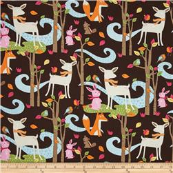 Timeless Treasures Woodland Scenic Brown