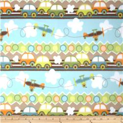Fleece Prints Cars Multi