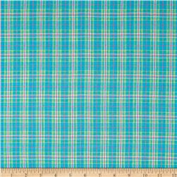 Yarn Dyed Plaid Shirting Turquoise